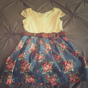 Delia's Lace/Floral Bottomed Dress